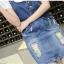 BW6005005 เอี้ยมกระโปรงยีนส์สั้นดินสดป้ายสีคาบอยเกาหลี (พรีออเดอร์) รอสินค้า 3 อาทิตย์หลังโอนเงิน thumbnail 3