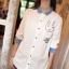 GW5712007 เสื้อเชิ้ตสาวเกาหลี สีขาวแต่งการ์ตูน น่ารัก (พรีออเดอร์)รอสินค้า 3อาทิตย์หลังโอนเงิน thumbnail 1