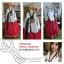 """Royal Hanbok แบบชาววัง (ทังอี) สีขาวครีม กระโปรงสีแดงปักมือ อก 38"""" thumbnail 10"""