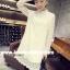 RP5911003 เสื้อลูกไม้เกาหลีสวยหวาน คอเต่าแขนยาว (พรีออเดอร์) thumbnail 3