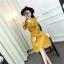 RP5911015 เดรสลูกไม้คอวีแขนยาวระบายเก๋เกาหลีเข้ารูปสวยหวานกระโปรงบาน(พรีออเดอร์) thumbnail 2