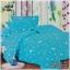 ผ้าปูที่นอนลายดาว ลายพระจันทร์ เกรด A สีฟ้า ขนาด 6 ฟุต 5 ชิ้น thumbnail 1