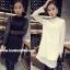 RP5911003 เสื้อลูกไม้เกาหลีสวยหวาน คอเต่าแขนยาว (พรีออเดอร์) thumbnail 2