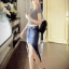 BW5801001 กระโปรงยีนส์สาวเกาหลี สั้น เก๋(พรีออเดอร์) รอ 3 อาทิตย์หลังโอนเงิน thumbnail 1