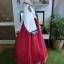 """Royal Hanbok แบบชาววัง (ทังอี) สีขาวครีม กระโปรงสีแดงปักมือ อก 38"""" thumbnail 6"""