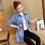 FW6008004 เสื้อแจ็กเก็ตยีนส์ยาวการ์ตูนแขนยาวคอปกแฟชั่นเกาหลี (พรีออเดอร์) รอ 3 อาทิตย์หลังโอน thumbnail 5