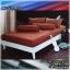 ผ้าปูที่นอนสีพื้น (สีน้ำตาลเข้ม)(พื้นเรียบ) ขนาด 3.5 ฟุต 3 ชิ้น thumbnail 1
