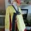 Princess Hanbok แบบชาววัง (ทังอี) สีเหลืองปั๊มเงิน กระโปรงปักมือดิ้นเงิน thumbnail 3