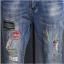 LW6003001 กางเกงยีนส์ผู้หญิงสำหรับสาวอวบขายาวแต่งปะเพ้นท์สี (พร้อมส่ง)32 thumbnail 6