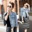 FW5907008 เสื้อแจ็กเก็ตยีนส์ ปกเชิ้ต แขนยาว แฟชั่นเกาหลี (พรีออเดอร์) thumbnail 2