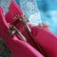 Korean hanbok handbag กระเป๋าถือฮันบกสีชมพู ผ้าไหม thumbnail 4
