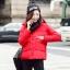 CW5909012 เสื้อโค้ทผู้หญิงหวานเกาหลีตัวสั้น มีอฮูดซิปหน้า(พรีออเดอร์) รอ 3 อาทิตย์หลังโอนเงิน thumbnail 5