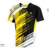 ชุดแบดมินตัน เสื้อแบดมินตัน VICTOR สีเหลือง : 414