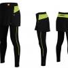 กางเกงกระโปรงปั่นจักรยานขายาวผู้หญิง SOUKE สีเขียว : SKT0203