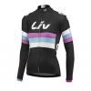 เสื้อปั่นจักรยานผู้หญิงแขนยาวทีม LIV เสื้อปั่นจักรยาน 286