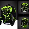 เสื้อปั่นจักรยานแขนยาว SOUKE สีดำเขียว: CL6501