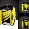 เสื้อปั่นจักรยานแขนยาว SOUKE สีดำเหลือง: CL6601