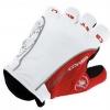ถุงมือปั่นจักรยานยี่ห้อ castelli สีขาวแดง : 162