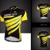 เสื้อปั่นจักรยานแขนสั้น SOUKE สีดำเหลือง: CS6602