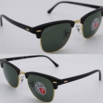 Ray Ban RB3016 901/58 Clubmaster Polarized lenses