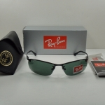 Ray Ban RB3183 006/71 ฺBlack Frame Green lenses 63MM