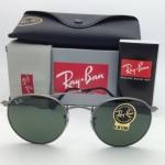 Ray-Ban RB3447 029 Round metal Gunmetal frame G-15 lenses