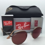 Ray Ban ROUND METAL RB3447 167/2K Demi Gloss Brown / Pink-Violet