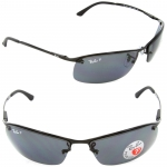 Ray Ban RB3183 002/81 Black Frame Grey Polarized