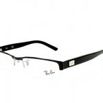 Ray Ban RB RX 6182 2502 Black Half Rim Eyeglasses 51/53mm