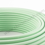 สายไฟวินเทจถัก สีเขียวมินท์(Mint Green)