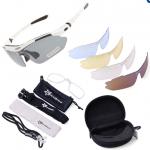 แว่นปั่นจักรยาน Rockbros polarized lenses (มีเลนส์ให้ 5 ชิ้น) สีขาว
