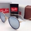 Ray-Ban Round Folding RB 3517 001/30 Blue Silver mirror thumbnail 3