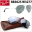 RayBan RB3025 W3277 Aviator Silver mirror 58mm thumbnail 1