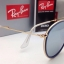 Ray-Ban Round Folding RB 3517 001/30 Blue Silver mirror thumbnail 6
