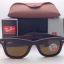 Ray Ban RB2140QM 1153/N6 Brown Leather Polarized Neophan Brown thumbnail 2