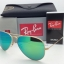 Ray Ban RB3025 112/19 Aviator Gold frame Green Mirror 58mm thumbnail 1