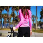 ชุดว่ายน้ำ ขายาว เสื้อแขนยาวสีชมพู สกรีนลาย size M