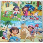 แผ่นรองคลานปูพื้น (แผ่นใหญ่) สกรีนลายดอร่า (Dora)