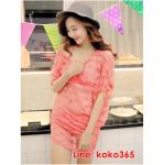 บิกินี่ Bikini-Fairy Sweet Lace (Water melon) size L