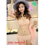 บิกินี่ Bikini-Fairy Sweet Lace (SoftPink) size M