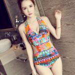 ุชุดว่ายน้ำวันพีช ลายกราฟฟิค พร้อมผ้าคลุมเอนกประสงค์ สีส้ม size M