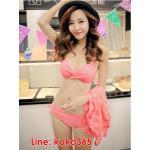 บิกินี่ Bikini-Fairy Sweet Lace (Water melon) size XL