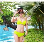 ชุดว่ายน้ำ บิกินี่ ทูพีช บราผูก เขียวตอง size XL
