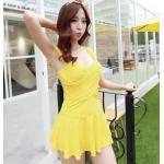 ชุดว่ายน้ำ วันพีช So Sweet (Yellow) แบบกระโปรง size XL