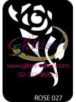 แบบลายดอกกุหลาบ (1) ขนาด 7 x 9.5 cm.