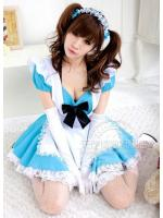 ชุดเมดญี่ปุ่นสีฟ้า ชุดแม่บ้านญี่ปุ่นสีฟ้าสุดน่ารัก