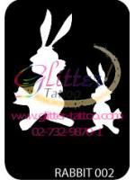 แบบลายกระต่าย ขนาด 7 x 9.5 cm.