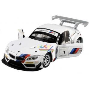 พร้อมส่ง โมเดลรถเหล็ก โมเดลรถยนต์ BMW Z4 GT3 สีขาว มี โปรโมชั่น