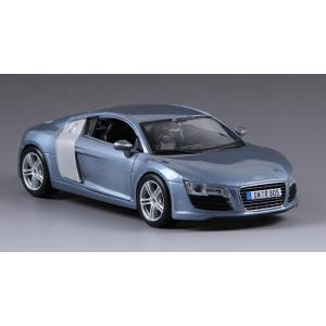 ขาย พรีออเดอร์ โมเดลรถเหล็ก โมเดลรถยนต์ Audi R8 ฟ้า เมทาลิค สเกล 1:24 มี โปรโมชั่น