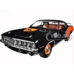 พรีออเดอร์ รถเหล็ก รถโมเดล US 1971 PLYMOUTH CUDA ฉลองครบ 50 ปี Plymouth สีดำ สเกล 1:24
